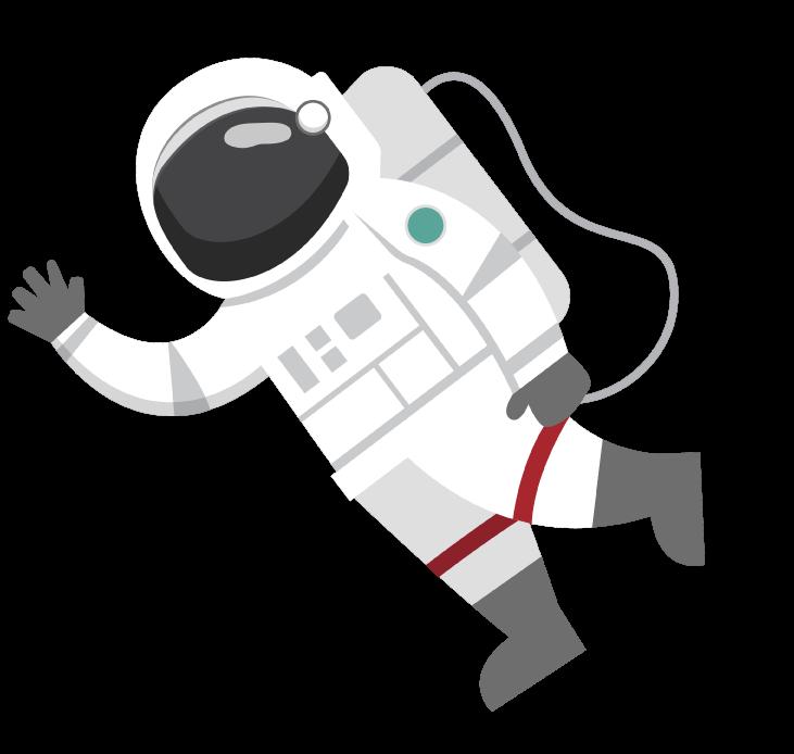 Astronauta che vaga nello spazio