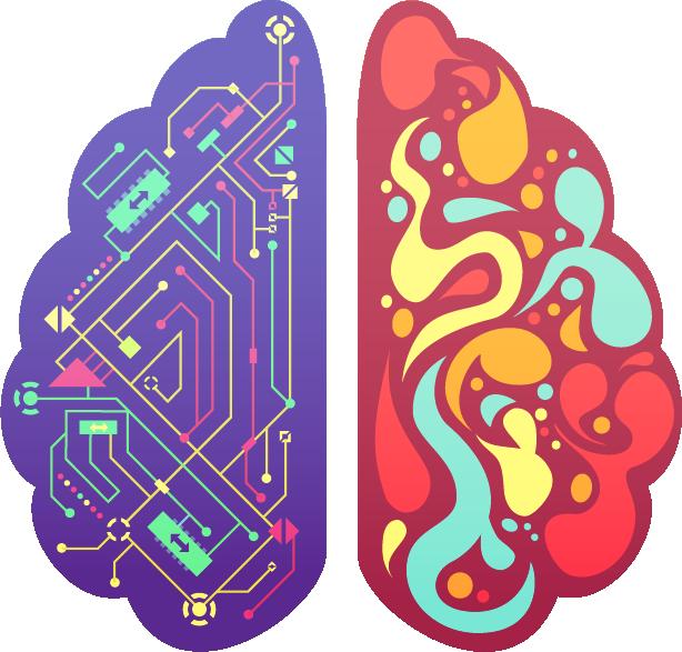 Digital marketing - Infografica cervello