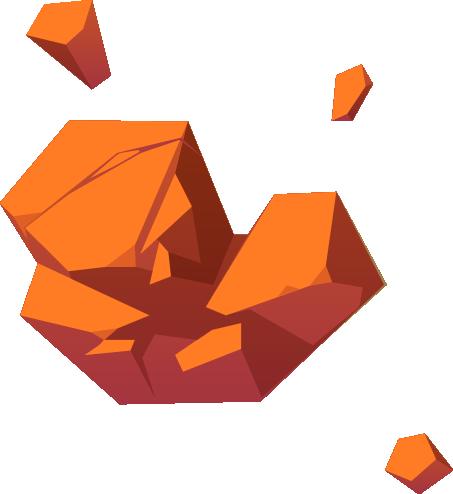Asteroide roccioso arancione