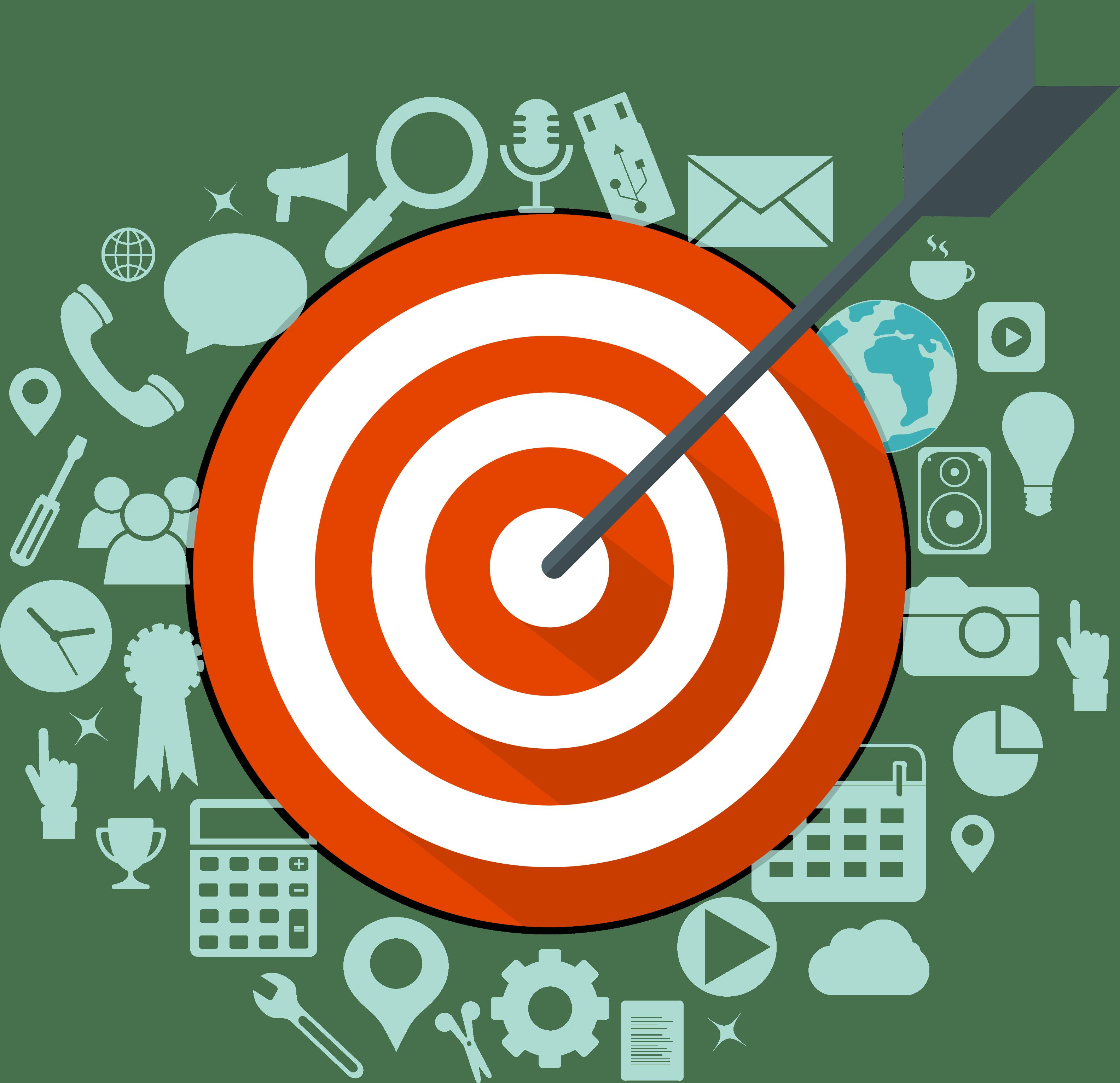 Digital marketing - Bersaglio con freccia