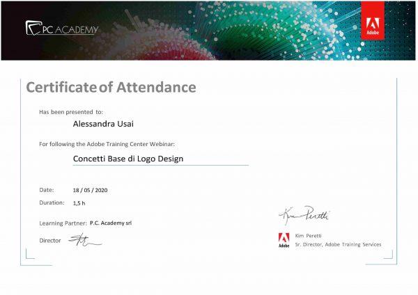 Certificazione logo design Adobe